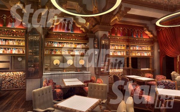 Часть мебели по эскизам заказали на Украине, часть купили в Италии