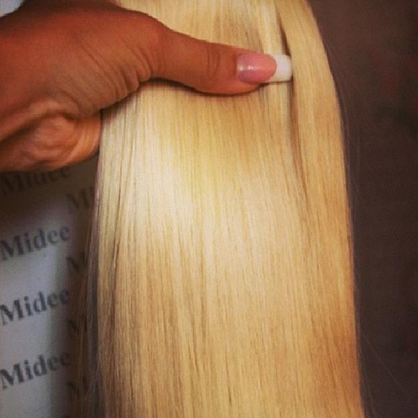 Так выглядят накладные пряди из натуральных волос. Подобрать оттенок довольно легко