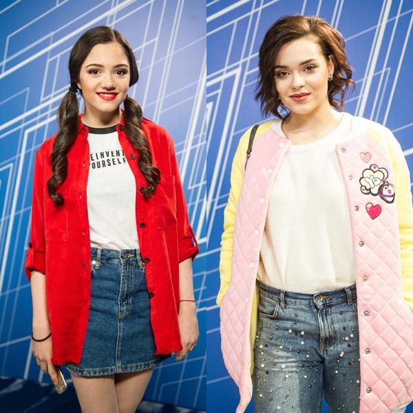 Слева - Евгения Медведева, справа - Аделина Сотникова. Или наоборот?