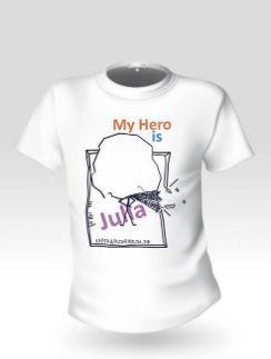 Такую футболку с портретом героя будет носить Наталья Водянова