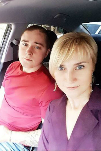 Инна Викторовна с сыном Артемом