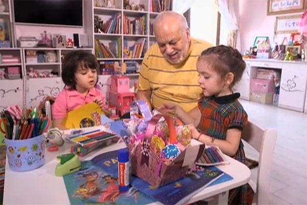 Дети Филиппа Киркорова с дедушкой Бедросом готовят папе сюрприз на день рождения