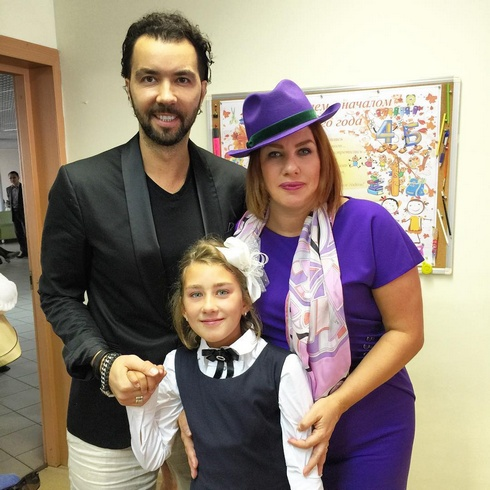 Денис Клявер, Ева Польна и их общая дочь Эвелина