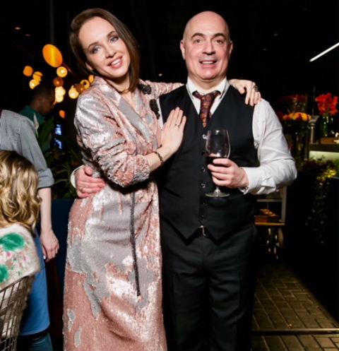 Михаил Грушевский с женой Евгенией