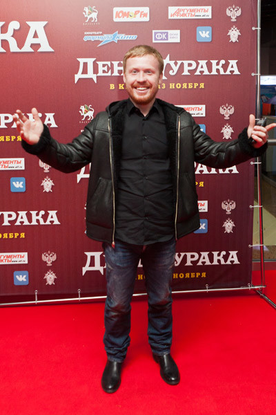 """Антон Богданов на премьере фильма """"День дурака"""""""