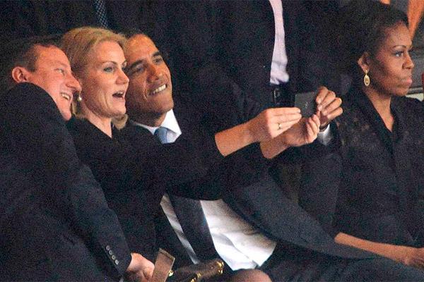 Скандальное селфи Барака Обамы. Мишель - против таких выходок