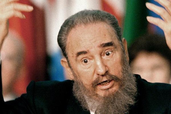 Фидель Кастро во время одного из своих выступлений