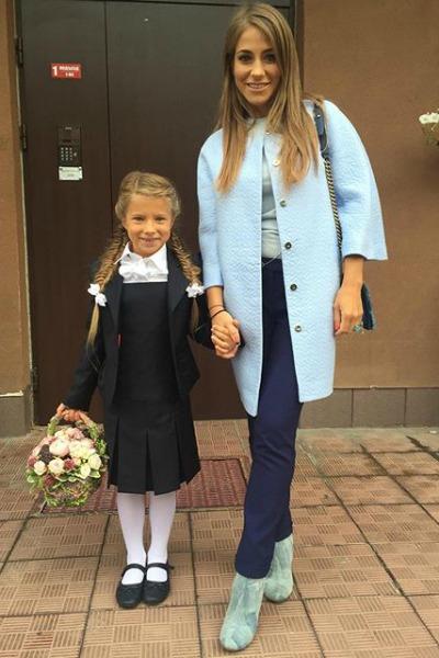 1 сентября Яна Аршавина пошла в первый класс