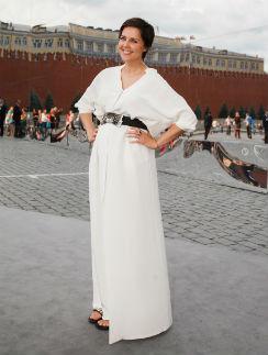 Ольга Шелест на показе Dior на Красной площади 9 июля