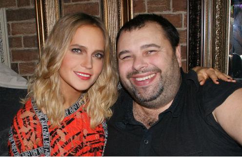 Певица с Максимом Фадеевым на съемках клипа