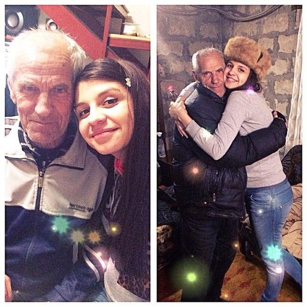 Алиана Гобозова с дедушкой