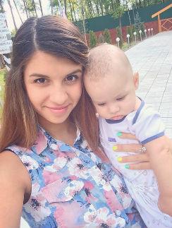 Алиана Гобозова вместе с сыном Робертом
