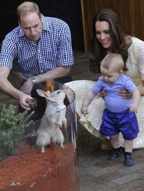Королевское семейство с тезкой своего сына