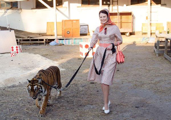Ольга Погодина уже восемь лет как укрощает тигров