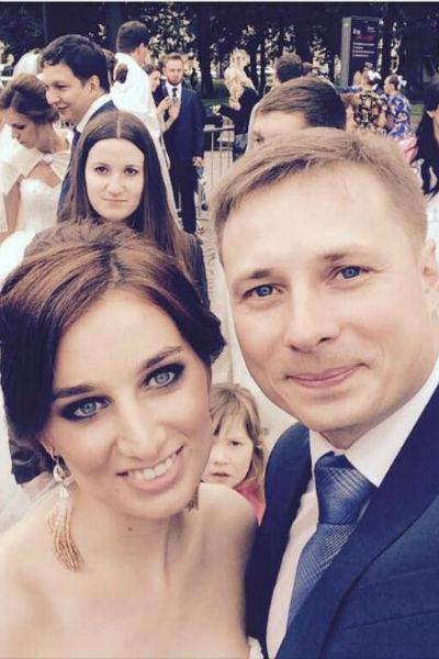 Анастасия Солтан с бывшим мужем