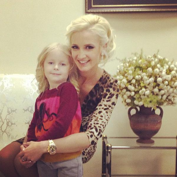 Ольга Бузова с племянницей, дочерью сестры Дмитрия Тарасова Полиной
