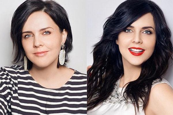 Фото Ольги до и после преображения