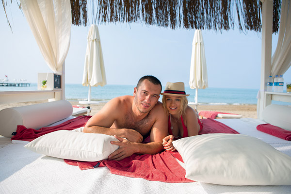 На отдыхе никаких ссор! Терехин и Бородина в Турции. Август 2012 года