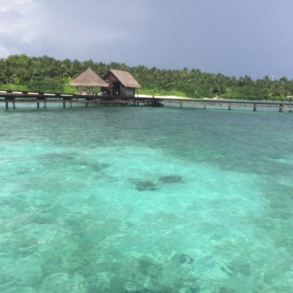 Ксения Собчак поделилась пейзажем с Мальдивских островов