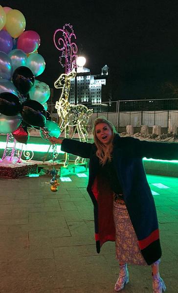 Анна Семенович после окончания вечеринки