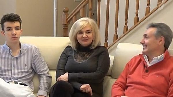 Дочь Муслима Магомаева Марина с мужем и сыном