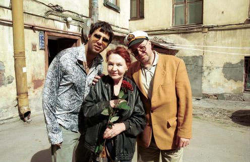 Иван, Нина и Андрей Урган в Петербурге
