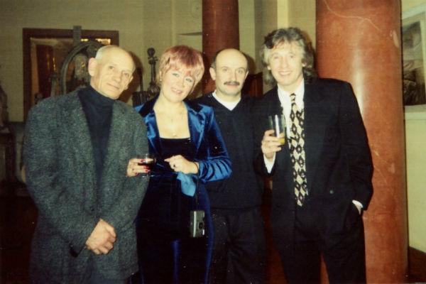 Юрий Ремесник, Нонна, сестра Малежика, ее муж и Вячеслав Малежик