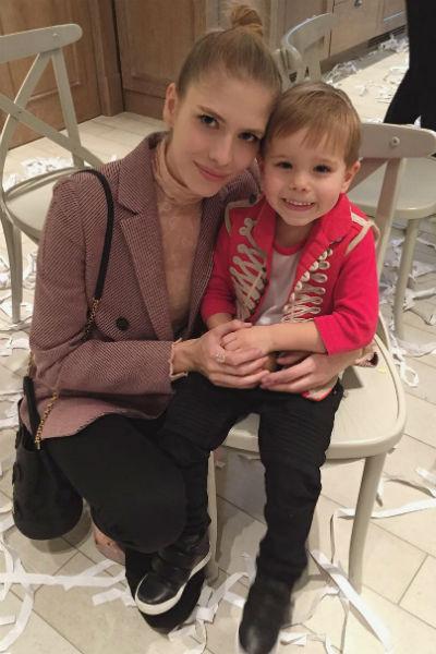Лена Перминова с сыном