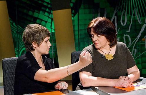 Дуня Смирнова и Татьяна Толстая в студии программы