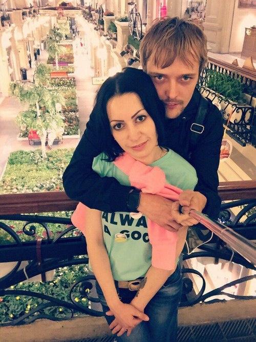 Сергей Зверев-младший с женой Юлией