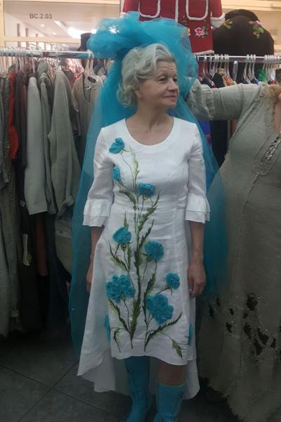 Примерка свадебного платья невесты