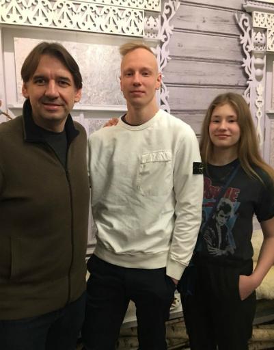 Андрей Колесов с Борисом и Марией Юшиными