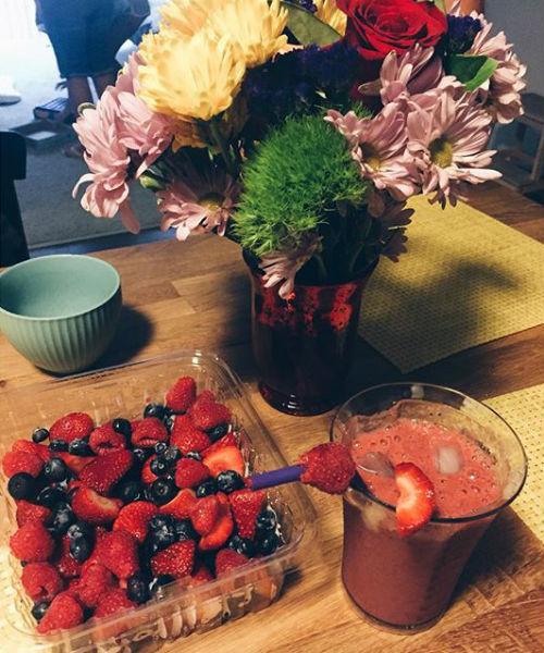 Смузи из ягод и плаценты