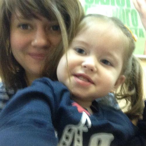 Анна Руднева с дочкой Софьей