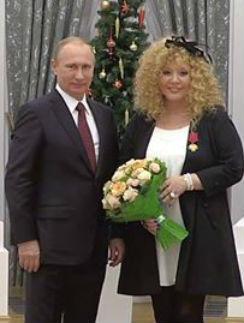 Алла Пугачева и Владимир Путин