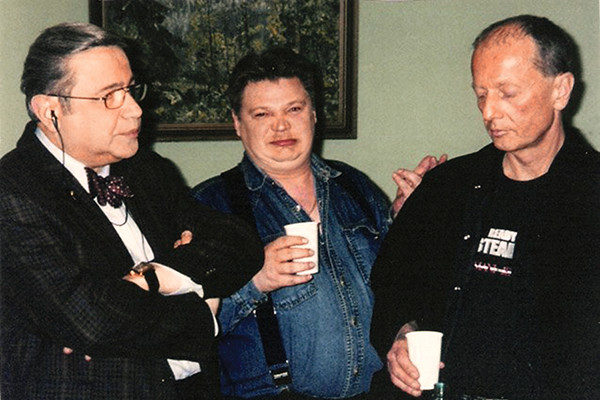 С Петросяном и Задорновым на юбилее передачи «Кривое зеркало»