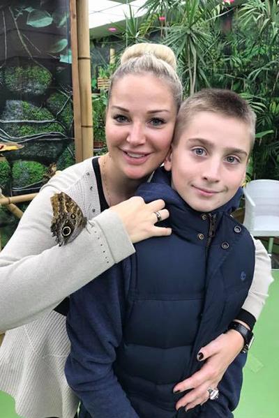 Мария Максакова со старшим сыном Ильей