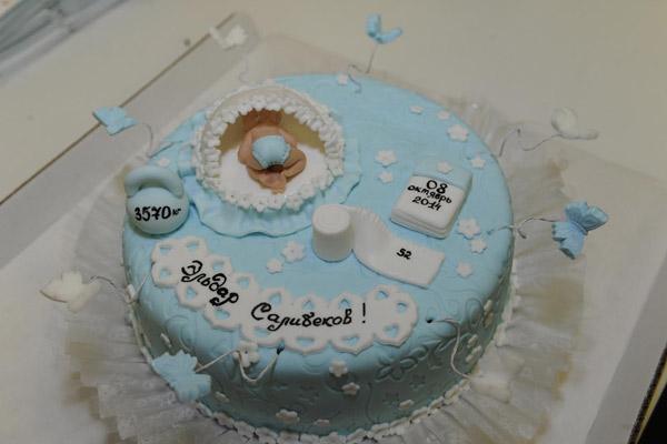 Торт в честь рождения сынишки Юлии и Тиграна