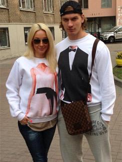 Лера Кудрявцева с мужем Игорем Макаровым
