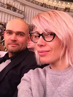 Аврора с мужем Алексеем Трейманом