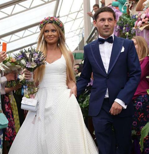 Дана Борисова в день свадьбы с андреем Тищенко