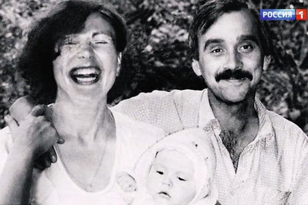 Татьяна Кравченко со вторым мужем Дмитрием Гербачевским и дочкой Аней