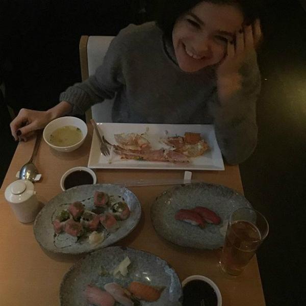 Темниковой больше всего понравилась японская еда