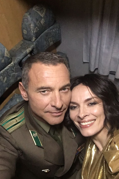Надежда с партнером по картине Максимом Дроздом
