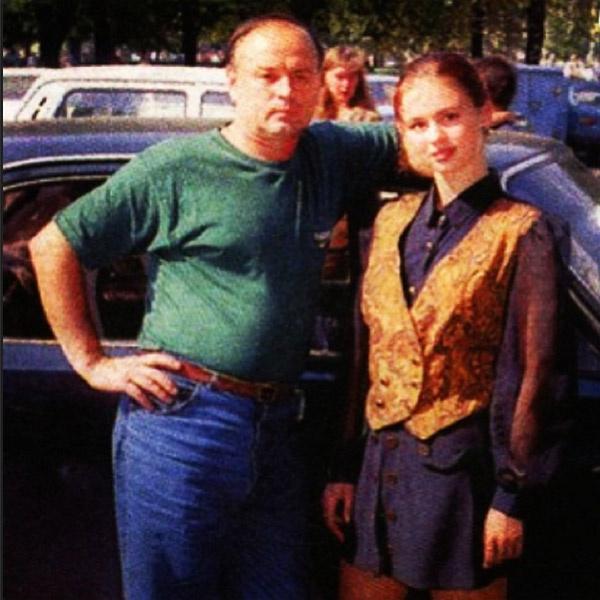 15-летняя Аня с папой