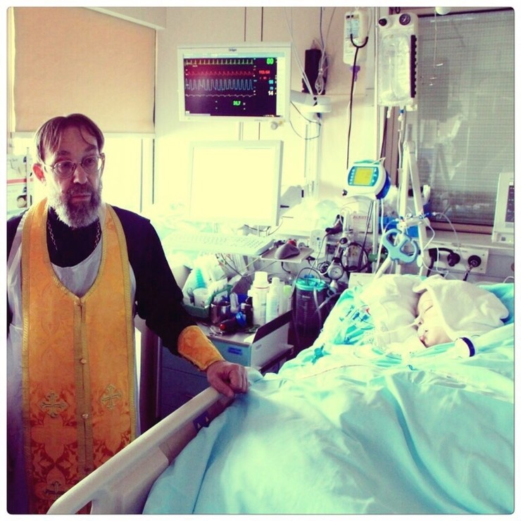 Лариса Черникова в госпитале в Вене