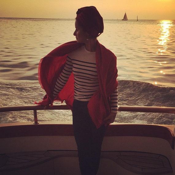 Тина Канделаки на прогулке в открытом море