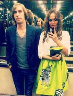 Алена Водонаева со своим возлюбленным Юрием Анде
