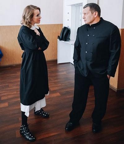 Ксения Собчак во время дебатов