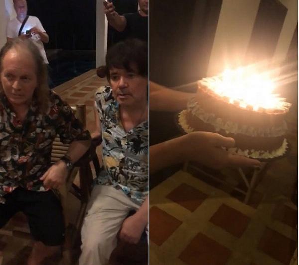 Евгений Осин отмечает день рождения в Таиланде с Крисом Кельми и Даной Борисовой